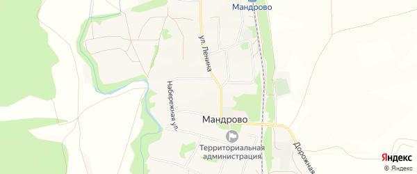 Карта села Мандрово в Белгородской области с улицами и номерами домов