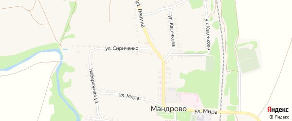 Улица Кравченко на карте села Мандрово с номерами домов