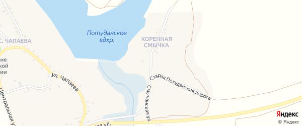 Смычанская улица на карте села Потудани с номерами домов