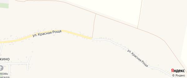 Улица Красная Роща на карте села Гредякино с номерами домов