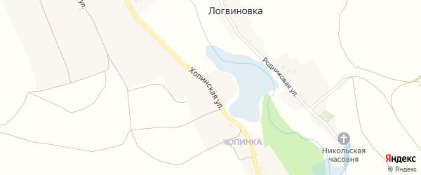 Хопинская улица на карте села Потудани с номерами домов