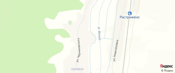 Карта села Валуйчика в Белгородской области с улицами и номерами домов
