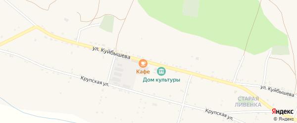 Улица Куйбышева на карте села Ливенки с номерами домов