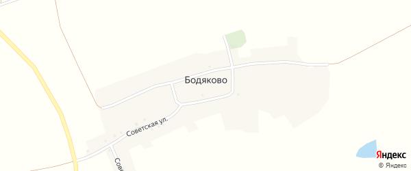 Советская улица на карте села Бодяково с номерами домов