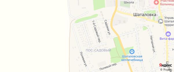 2-й Садовый переулок на карте села Шаталовки с номерами домов