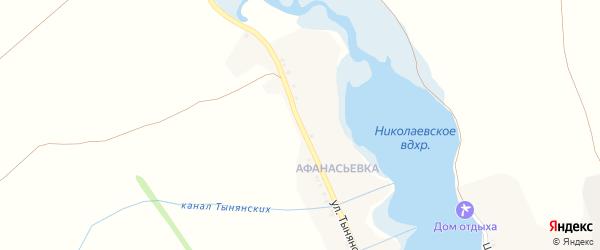 Улица Тынянских на карте села Новониколаевки с номерами домов