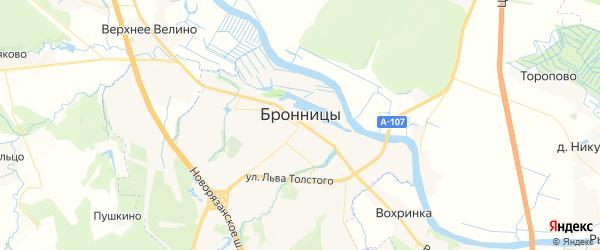 Карта Бронниц с районами, улицами и номерами домов: Бронницы на карте России