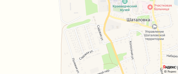 1-й Садовый переулок на карте села Шаталовки с номерами домов