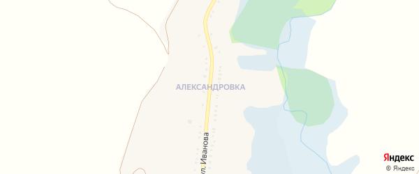 Улица Иванова на карте села Знаменки с номерами домов