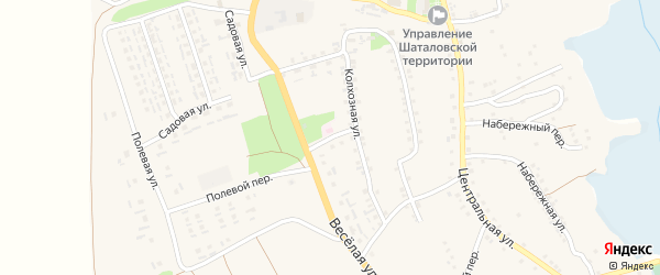 Колхозный переулок на карте села Шаталовки с номерами домов