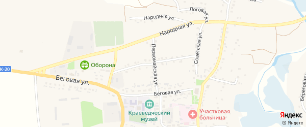 Спортивная улица на карте села Шаталовки с номерами домов