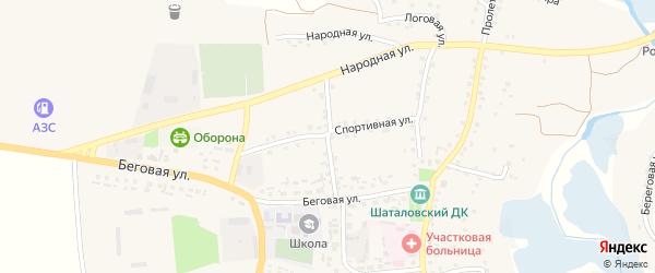 Первомайская улица на карте села Шаталовки с номерами домов