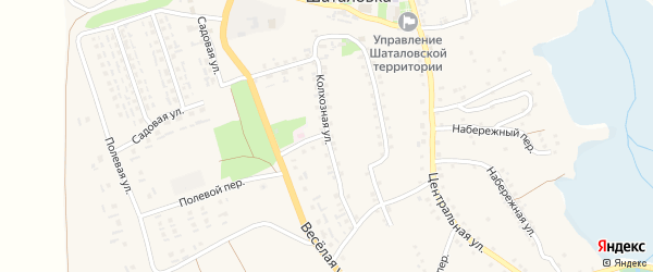 Колхозная улица на карте села Шаталовки с номерами домов