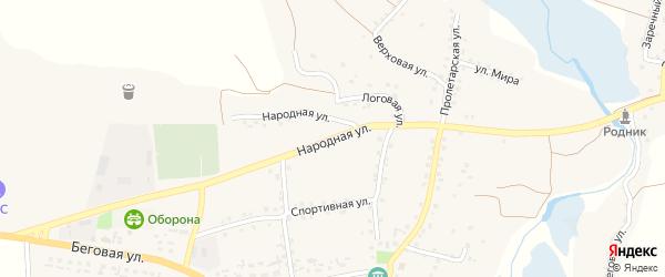 Народная улица на карте села Шаталовки с номерами домов
