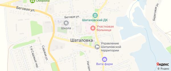 Почтовая улица на карте села Шаталовки с номерами домов