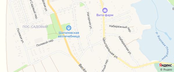 Нагорная улица на карте села Шаталовки с номерами домов