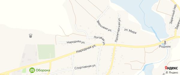 Логовая улица на карте села Шаталовки с номерами домов