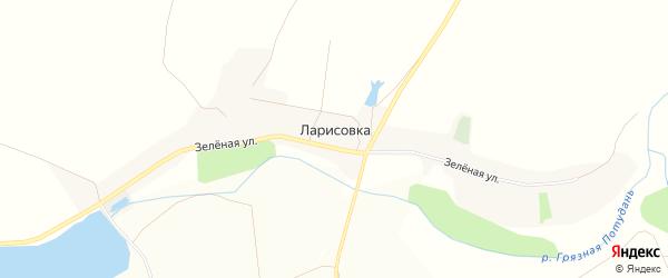 Карта села Ларисовки в Белгородской области с улицами и номерами домов