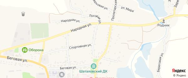 Советская улица на карте села Шаталовки с номерами домов