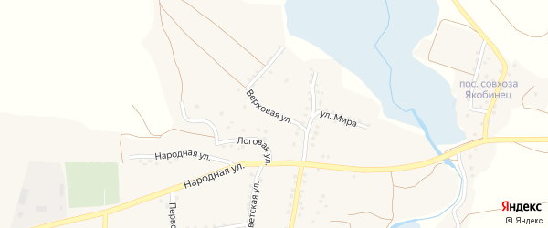 Верховая улица на карте села Шаталовки с номерами домов