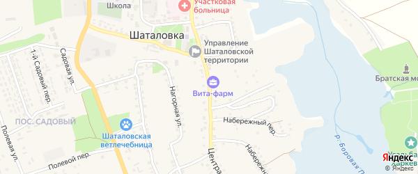 Центральная улица на карте села Шаталовки с номерами домов
