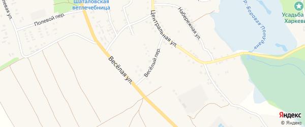 Веселый переулок на карте села Шаталовки с номерами домов