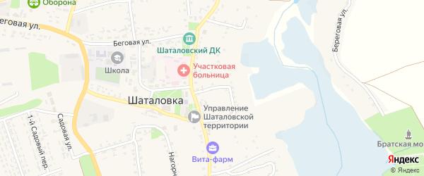 2-й Центральный переулок на карте села Шаталовки с номерами домов