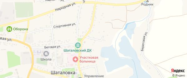1-й Центральный переулок на карте села Шаталовки с номерами домов