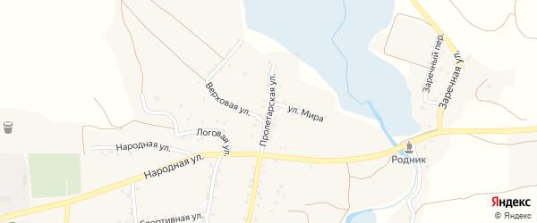 Пролетарская улица на карте села Шаталовки с номерами домов