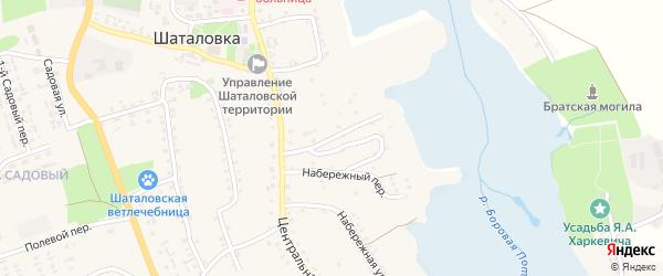 3-й Центральный переулок на карте села Шаталовки с номерами домов