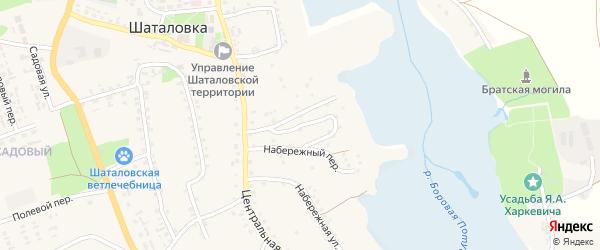 4-й Центральный переулок на карте села Шаталовки с номерами домов