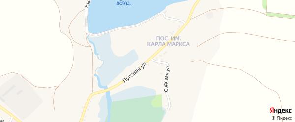 Луговая улица на карте села Знаменки с номерами домов