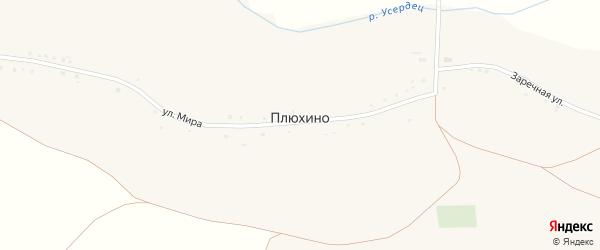 Заречная улица на карте села Плюхино с номерами домов