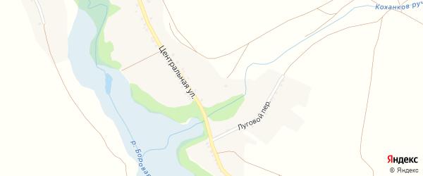Нагорная улица на карте села Новониколаевки с номерами домов