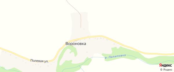 Полевая улица на карте села Вороновки с номерами домов