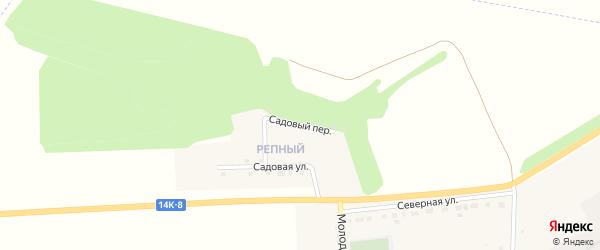 Садовый переулок на карте села Зенино с номерами домов