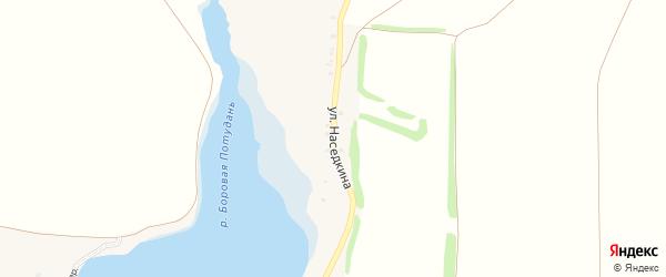Улица Наседкина на карте села Знаменки с номерами домов
