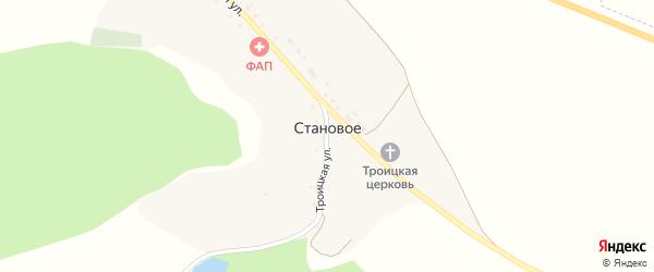 Раздольная улица на карте Станового села с номерами домов