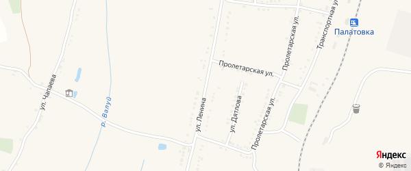 Улица Ленина на карте села Ливенки с номерами домов