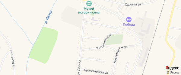 Учительская улица на карте села Ливенки с номерами домов