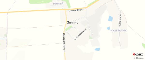 Карта села Зенино в Белгородской области с улицами и номерами домов