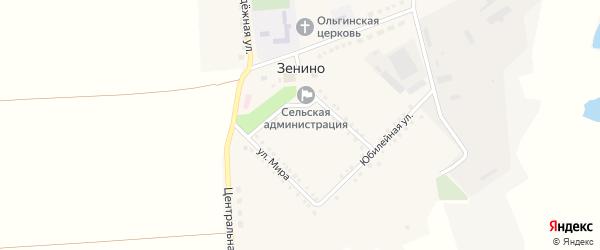 Садовая улица на карте села Зенино с номерами домов