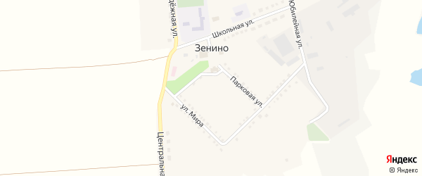 Степная улица на карте села Зенино с номерами домов