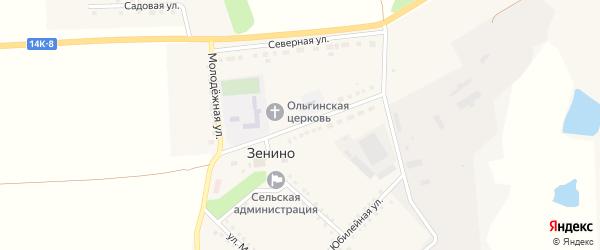 Школьная улица на карте села Зенино с номерами домов