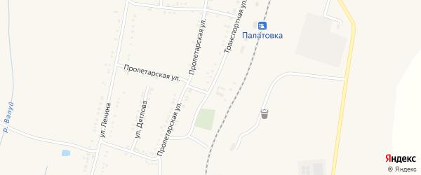 Транспортная улица на карте села Ливенки с номерами домов