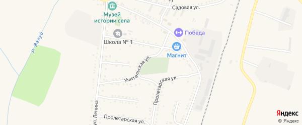 Улица Фрунзе на карте села Ливенки с номерами домов