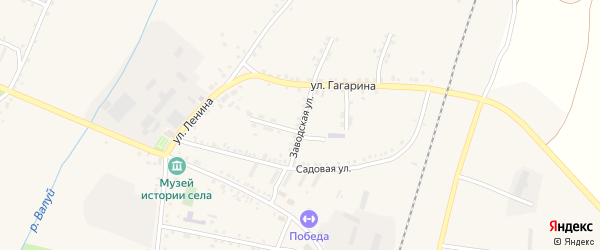Заводская улица на карте села Ливенки с номерами домов