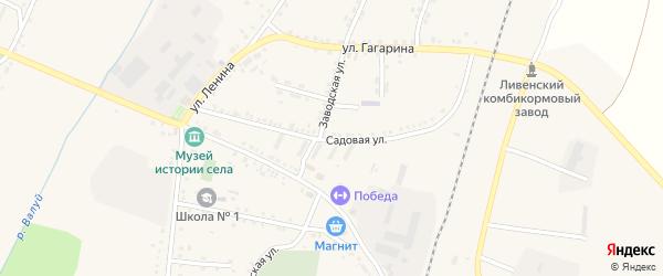 Садовая улица на карте села Ливенки с номерами домов