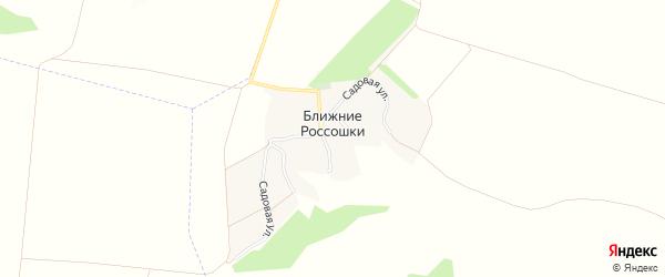 Карта хутора Ближние Россошки в Белгородской области с улицами и номерами домов
