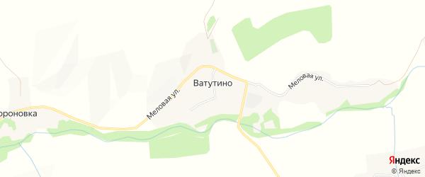 Карта села Ватутино в Белгородской области с улицами и номерами домов